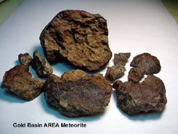 Gold Basin Area meteorite puzzle - pieces