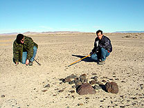 NEW Nevada meteorite fragments in-situ
