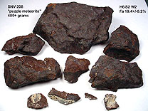 Nevada meteorite puzzle - pieces
