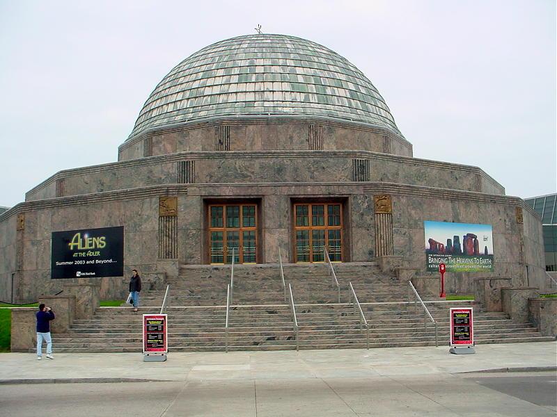 Entrance to Adler Planetarium