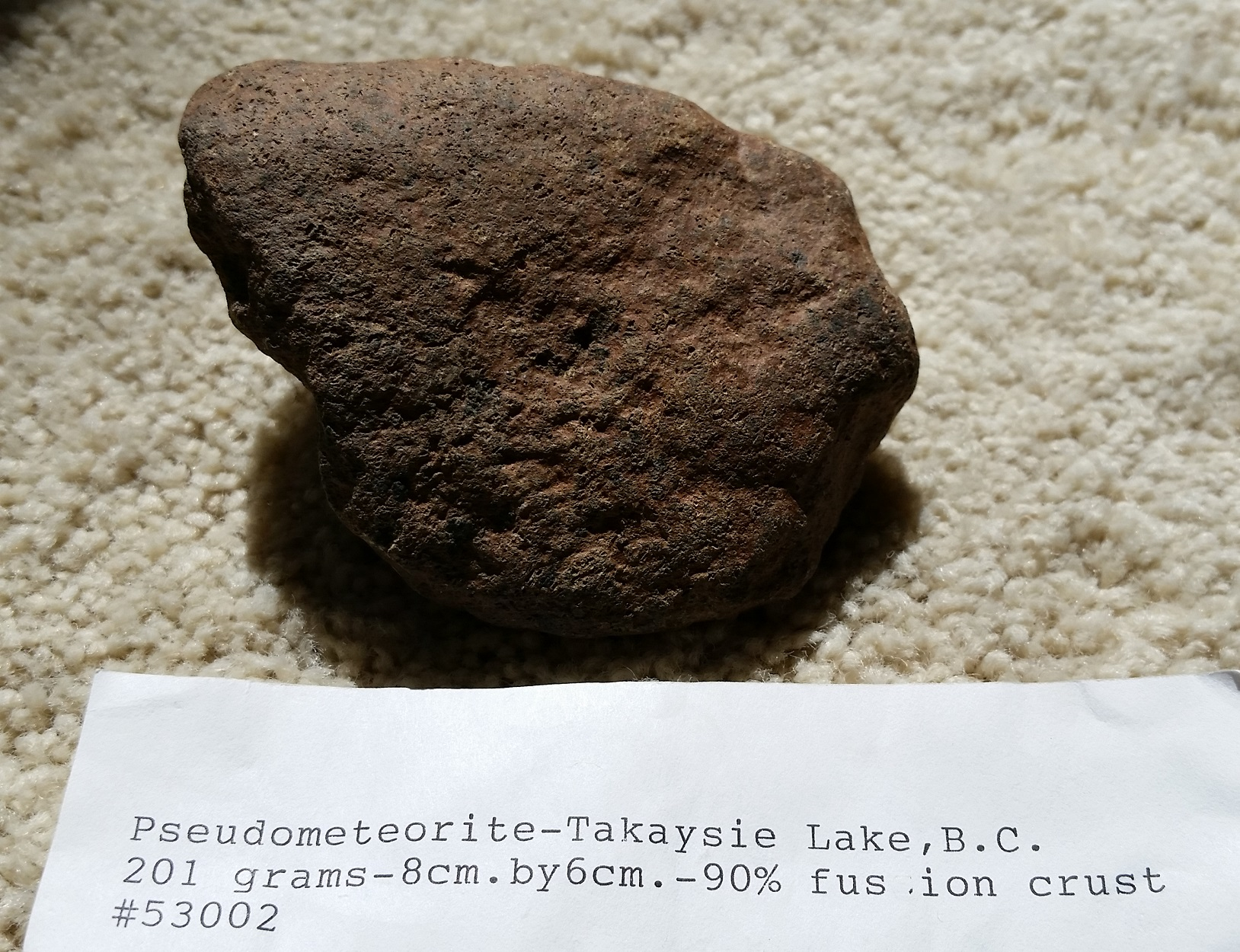 "Takysie Lake – The Classic ""Pseudometeorite"" – Found By Harvey H. Nininger – Still a Mystery?"